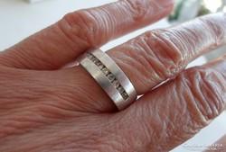 Szép régi  ezüst köves karikagyűrű