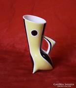 Zsolnay art deco váza - 15,5 cm (Török János tervezése)