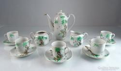 0M380 Régi keleti mintás porcelán kávéskészlet