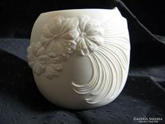 Különleges fehér porcelán Kaiser gyertyatartó