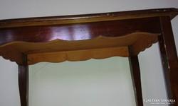 Neobarokk tömörfa asztalka, dohányzó asztal, kisasztal