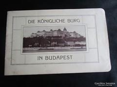 BUDAPEST VÁRNEGYED KIRÁLY KIRÁLYI PALOTA PROSPEKTUS 1908