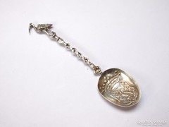 XVIII.századi holland ezüst emlékkanál.