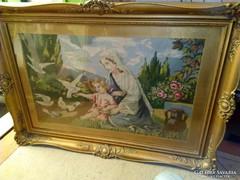 Antik nagyméretű Goblen Blonden képkerettel