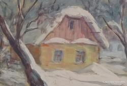 0M568 Shakirov Sebestyén : Nagybányai téli falu