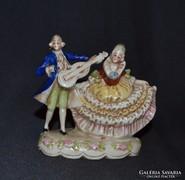 Kézzel festett barokk német számozott fűúri pár