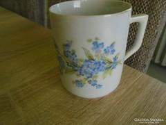 Zsolnay porcelán nefelejcses bögre