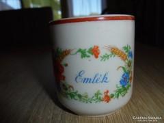 Zsolnay porcelán virágos emlék csésze
