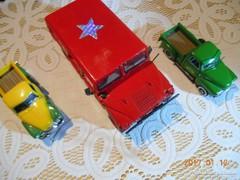 3 db Fém Gyűjtői Autó