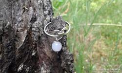 Régi achátgyöngyös ezüst gyűrű