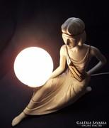 Csodaszép olasz porcelán lámpa