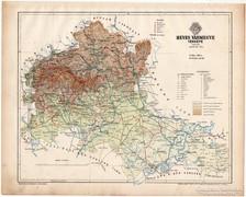 Heves vármegye térkép 1899, Magyarország atlasz (a), megye
