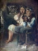Peske Géza (1859-1934): Krumplievők/MÁSOLAT/