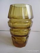 Moser? üveg kristály váza borostán szinben hibátlan 20 cm