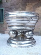 Art deco ezüstözött kínáló különleges forma