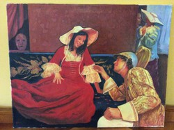 Győri Zsolt ' Gozo' Szerelmesek c. festménye