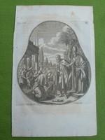 9 db eredeti rézmetszet az 1700-as évekből