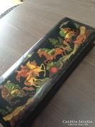 Régi orosz kézzel festett Paleh lakkdoboz