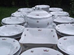 Régi Zsolnay 12 személyes porcelán étkészlet