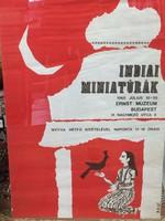 RETRO PLAKÁT 1965 - INDIAI MINIATÚRÁK