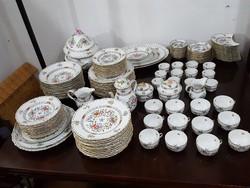 HEREND WALDSTEIN MULTICOLOR 12 személyes étkészlet, teás és kávés készlet.
