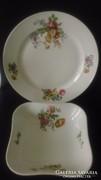 Pajzsos Zsolnay porcelán tál és kínáló