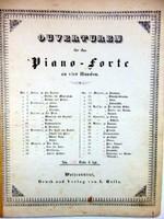 RÉGI KOTTA OUVERTUREN für das Piano - FORTE