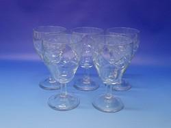 0N230 Csiszoltüveg talpas pohár készlet 5 darab