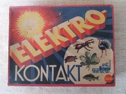 Régi Elektro-Kontakt_Stomo-Spiel  Német elemes játék