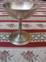 Ezüstözött antik Bohrmann fagylaltos kehely vagy akár kínáló