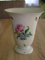 Virágos ovális herendi porcelán váza