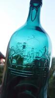 Címeres-koronás harmatvizes 1,5 literes üveg
