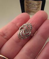 Régi markazitos ezüst gyűrű - Fővárosi Óra Ékszer készítette