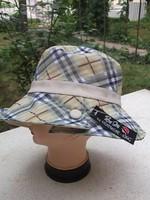 Csinos kockás női nyári kalap -strandkalap