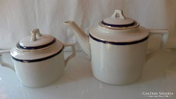 Zsolnay teás kiöntő és cukortartó