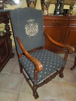 Antik  Henry D neo renesans fotel eladó