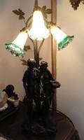 Muránói üveg burás hatalmas szobor csoport lámpa