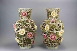 Zsolnay váza pár