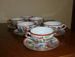 Kinai tojáshéj porcelán teáscsészék, alátét tányérral