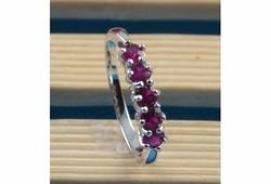 925S ezüst gyűrű, lilás-rózsaszín kövekkel 7-es ÚJ!