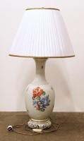 0H850 Herendi virág mintás asztali lámpa 92cm 1947