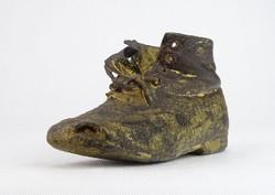 0N346 Antik valódi bőr kiscipő gyerek cipő