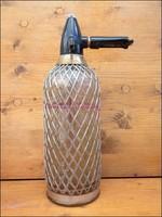 Retro fémhálós szódásüveg