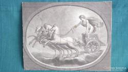 Vatikáni Freskó után Antik rézkarc metszet rézmetszet