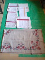 Korabeli vászon asztalterítők 7 db