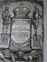 1779 METSZET : KORONA MAGYARORSZÁG KIRÁLYA -I EMLÉKEZTETŐ KOPORSÓ ÉPÜLÉJE BINDER BUDA