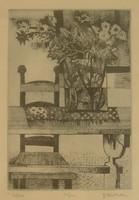 Kép, Kádár Katalin, Csokor című rézkarca.