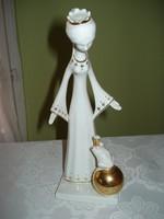 Aquincumi porcelán királylány béka királyfival figura