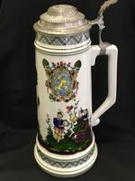 Hatalmas ónfedeles kupa, német porcelán