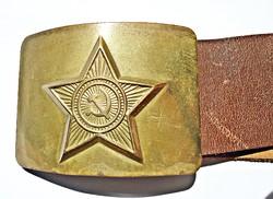 Szovjet katonai bőr öv